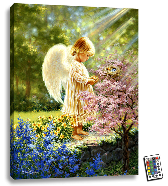 An Angel's Tenderness - Illuminated Fine Art