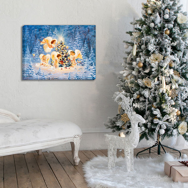 Silent Night Gentle Light - Illuminated Fine Art