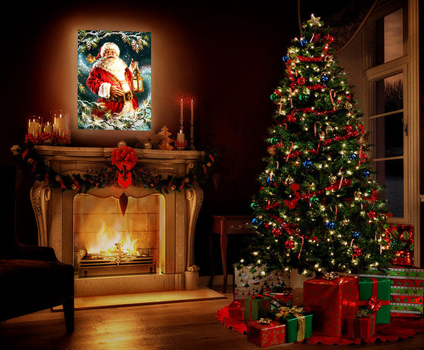Enchanted Santa - Illuminated Fine Art