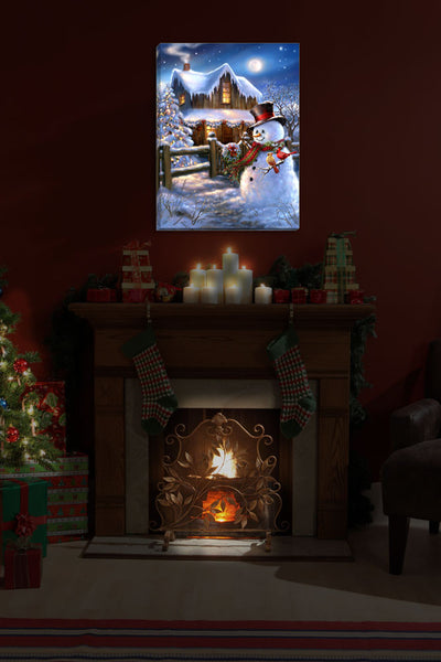 Woodhouse Christmas - Illuminated Fine Art
