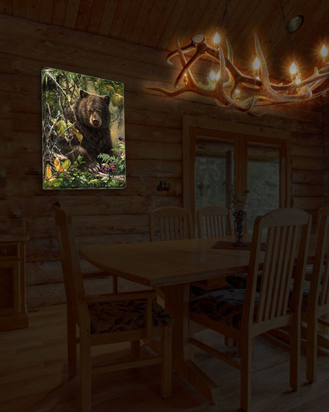 Black Bear Woods - Illuminated Fine Art