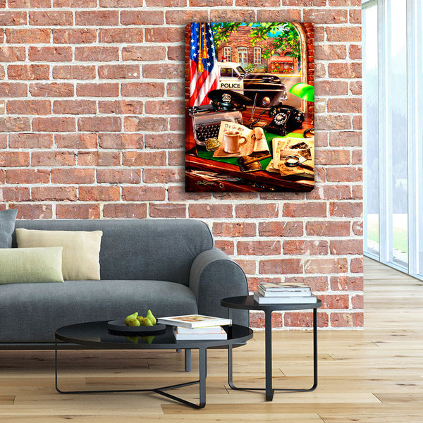 Hometown Hero Law Enforcement - Illuminated Fine Art