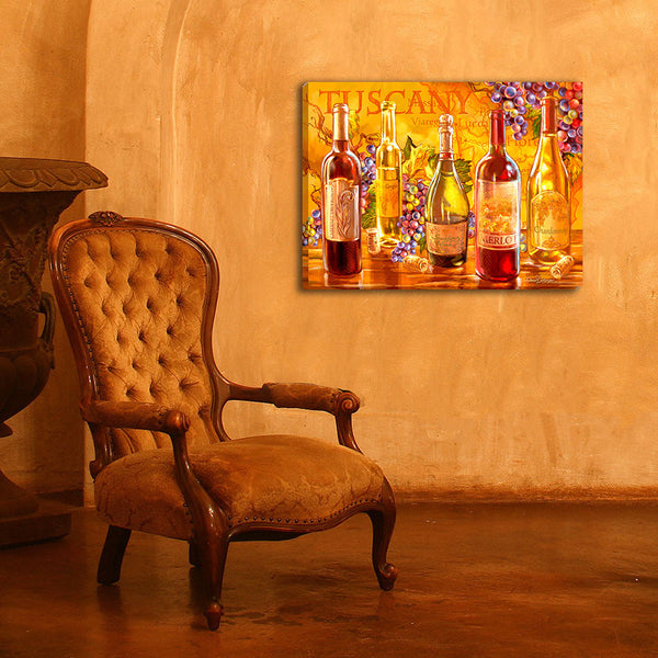 Tuscan Bottles - Illuminated Fine Art