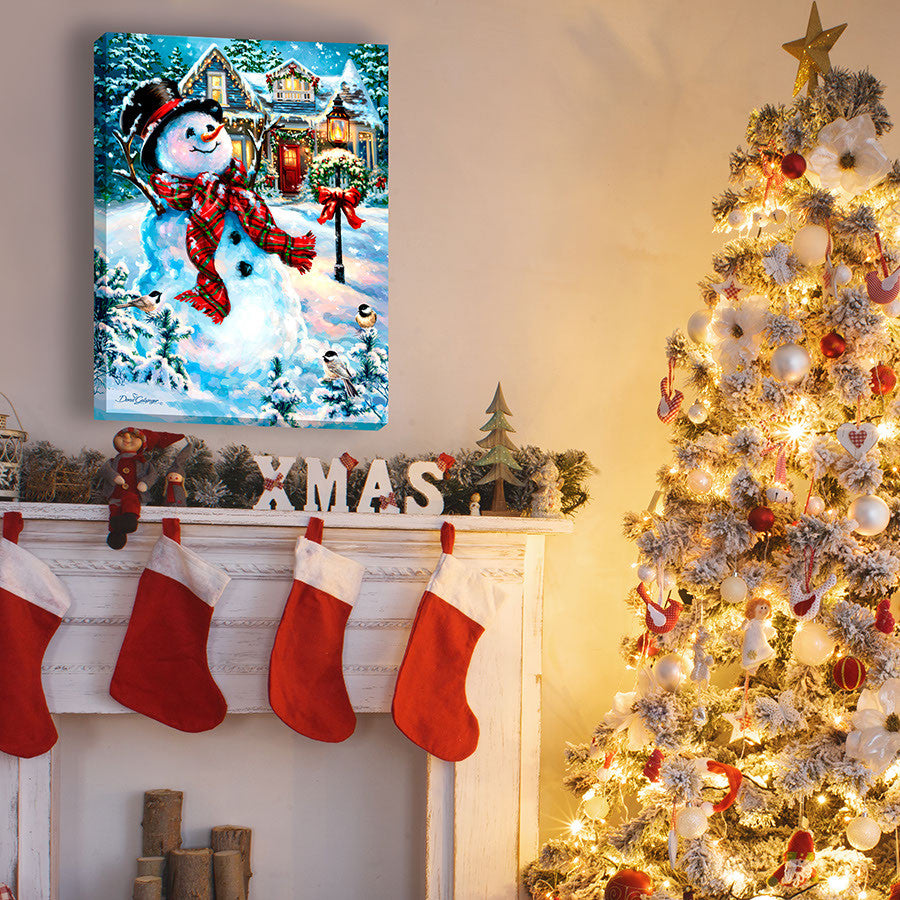 An old fashioned christmas illuminated fine art glow decor for Sia home fashion christmas decorations