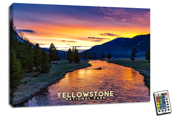 Yellowstone  - Illuminated Fine Art