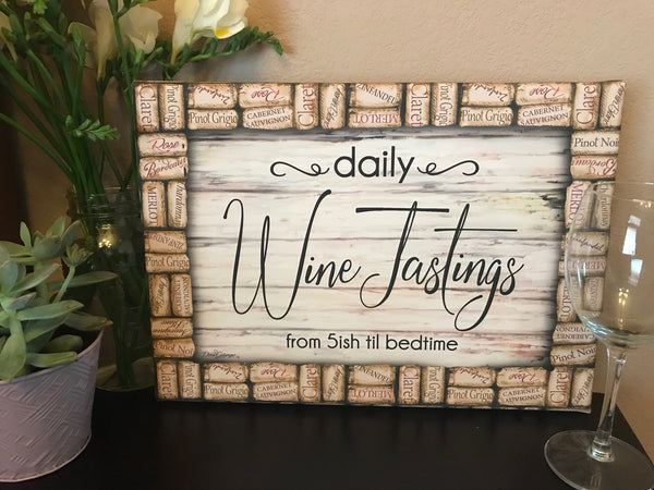 Wine Tastings Daily Canvas Wall Art