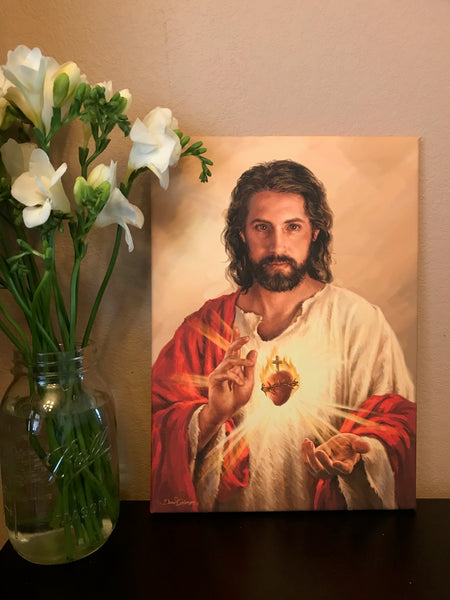 Sacred Heart of Jesus Canvas Wall Art