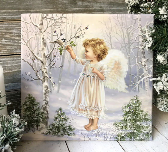 Little Winter Blessings Pizazz Print with Genuine Swarovski Crystals