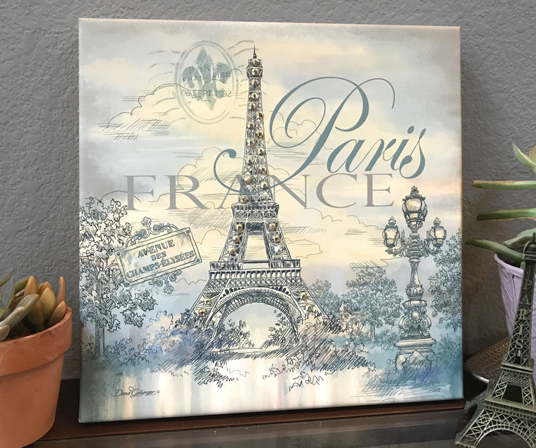 Paris Pizazz Print with Genuine Swarovski Crystals