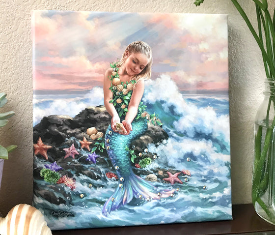 Mermaid Princess Pizazz Print with Genuine Swarovski Crystals