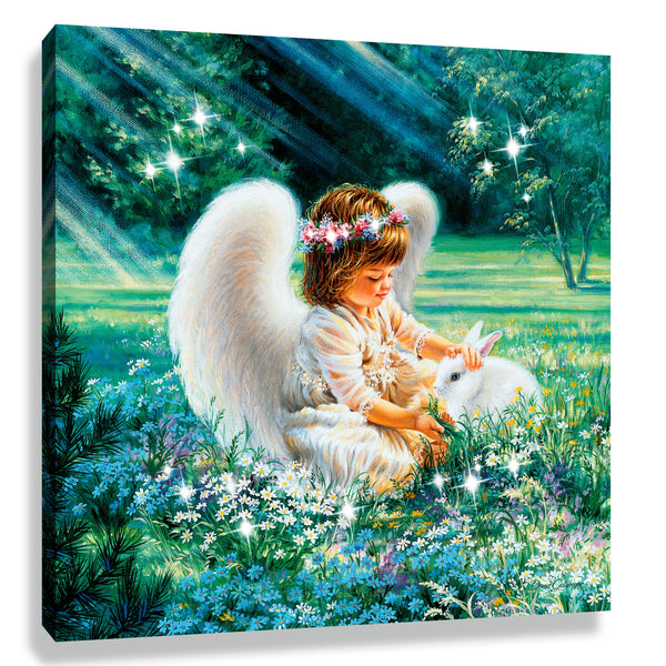 An Angel's Care Pizazz Print with Genuine Swarovski Crystals