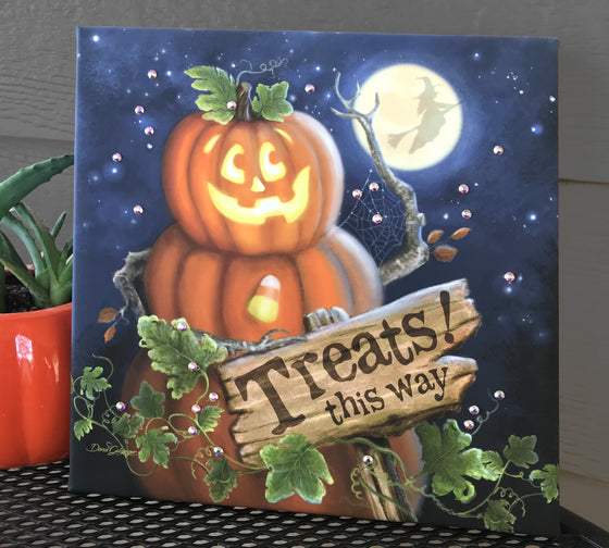 Pumpkin Patch Pizazz Print with Aurora Borealis Crystals