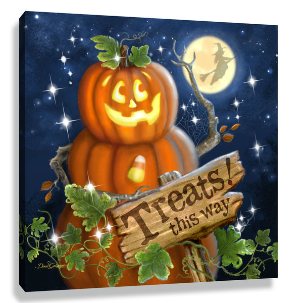 Pumpkin Patch Pizazz Print with Genuine Swarovski Crystals