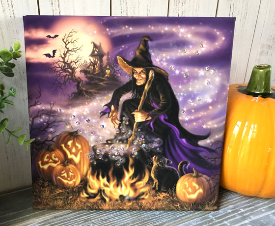 All Hallow's Eve Pizazz Print with Aurora Borealis Crystals