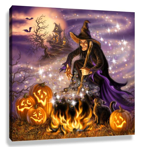 All Hallow's Eve Pizazz Print with Genuine Swarovski Crystals