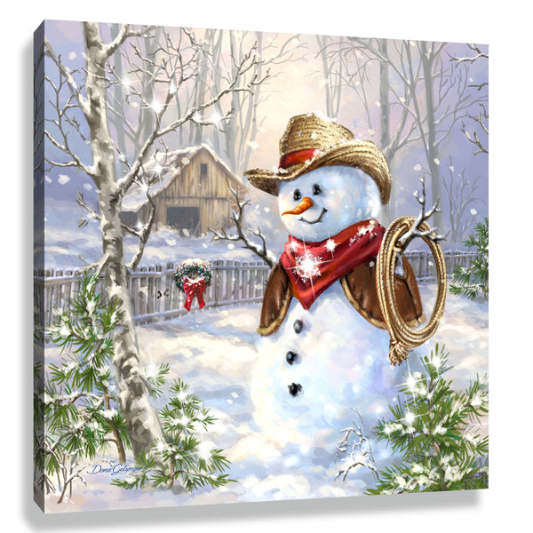 Cowboy Frosty Pizazz Print with Genuine Swarovski Crystals