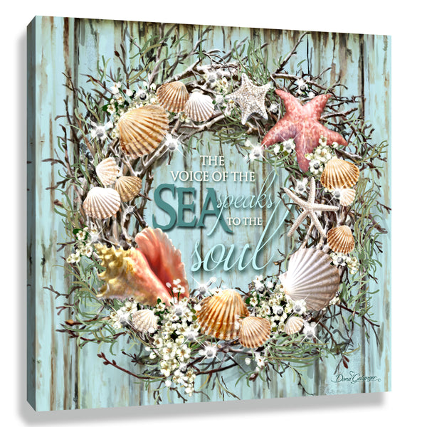 Coastal Wreath Pizazz Print with Genuine Swarovski Crystals