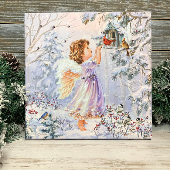 Little Winter Friends Pizazz Print with Genuine Swarovski Crystals