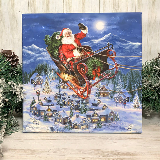 Delivering Christmas Pizazz Print with Aurora Borealis Crystals