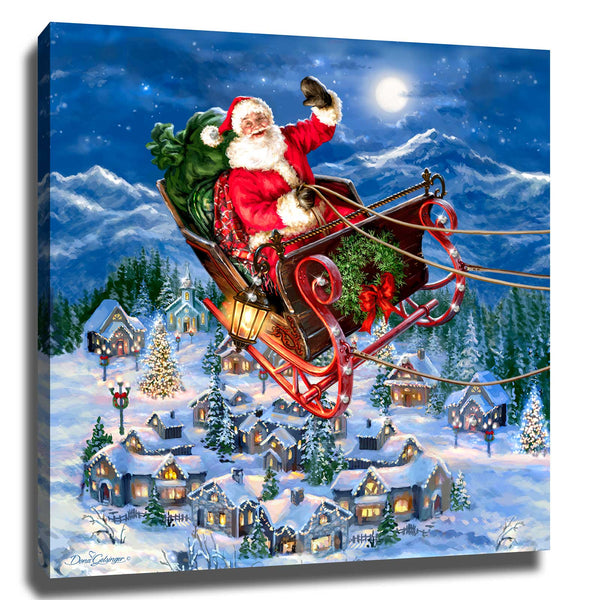 Delivering Christmas Pizazz Print with Genuine Swarovski Crystals