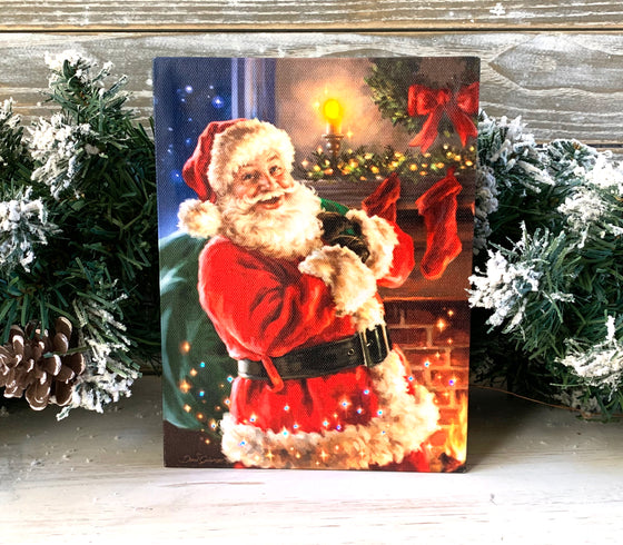 Twas the Night Before Christmas - Lighted Tabletop Canvas 8x6