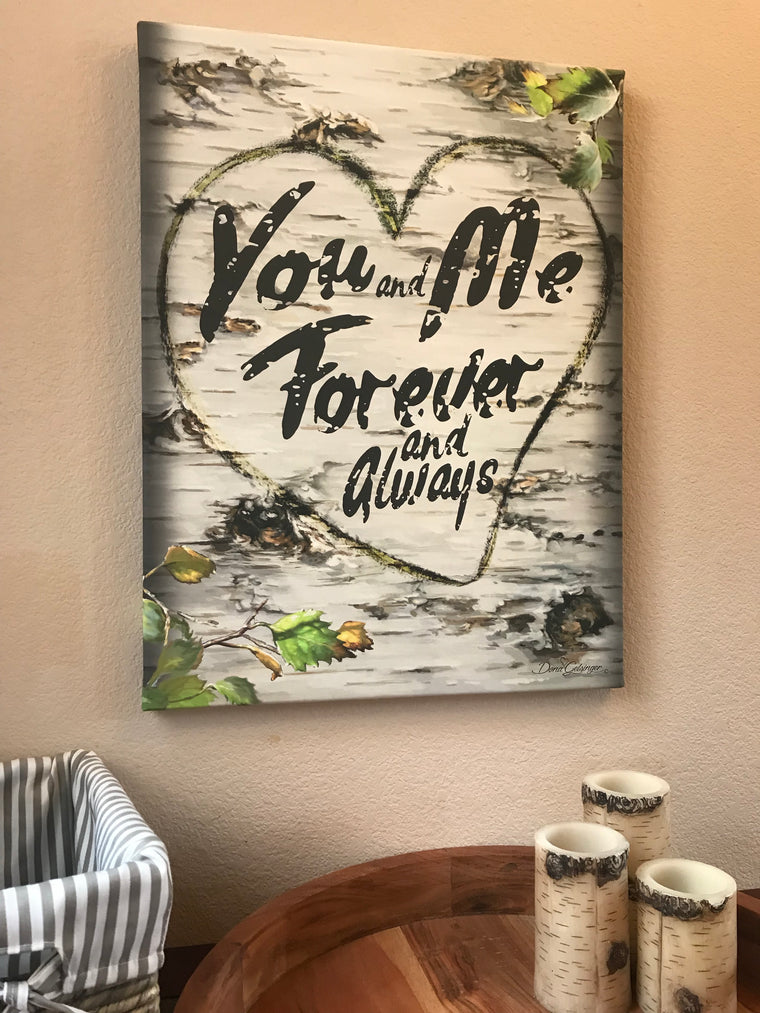 You and Me Forever Canvas Wall Art