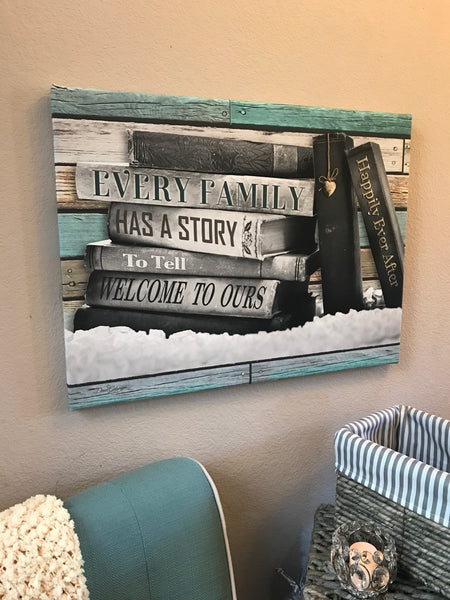 Our Story Canvas Wall Art