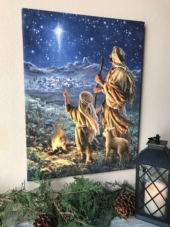 Shepherds Keeping Watch Canvas Wall Art