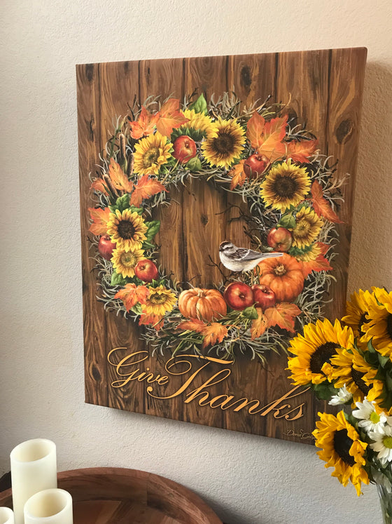 Autumn Wreath Canvas Wall Art