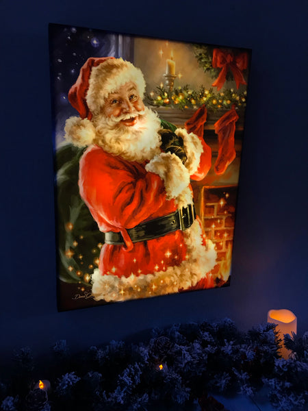 Twas the Night Before Christmas - Illuminated Fine Art