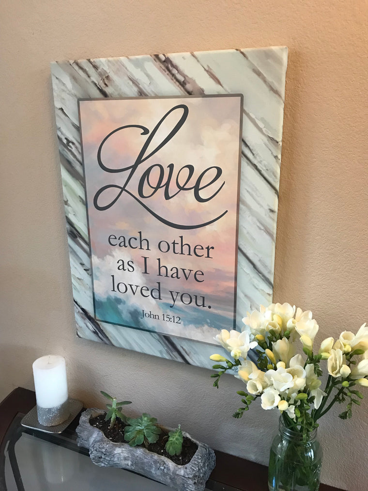 Love Each Other Canvas Wall Art