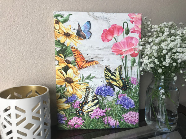 Butterfly Garden Canvas Wall Art