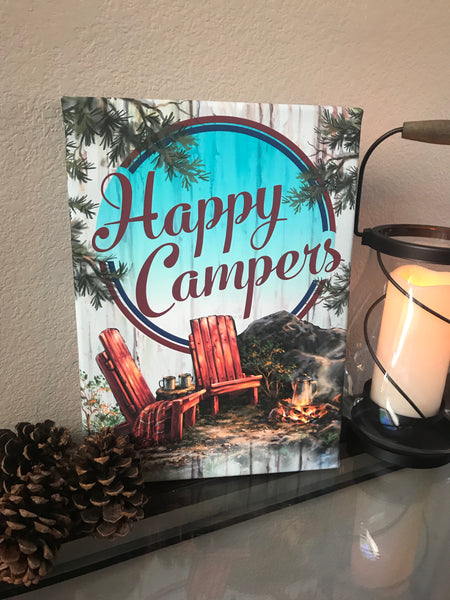 Happy Campers Canvas Wall Art
