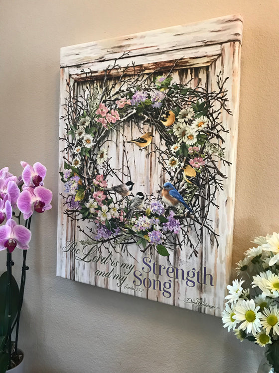 Spring Wreath Canvas Wall Art