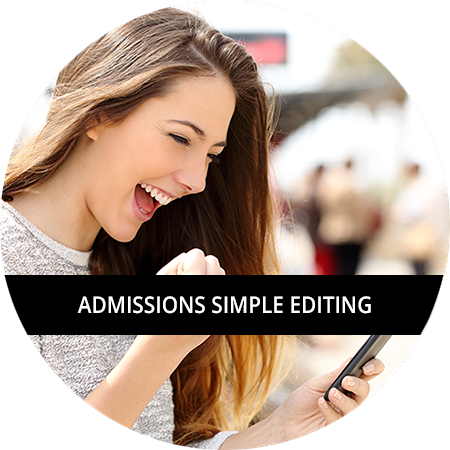 Admissions: Simple Editing