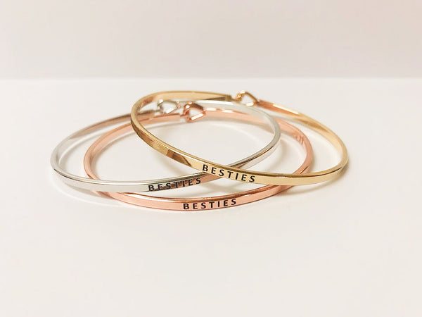 Metallic Slim Sentiment Cuff - Choice of Style