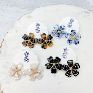 Acrylic Flower Statement Earrings