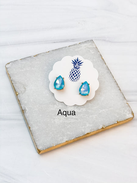 Jewel Pear Stud Earrings