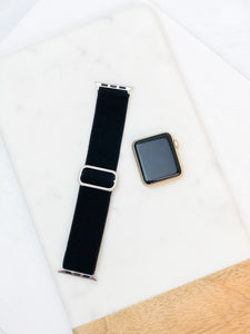 Adjustable Black Stretch Watch Band