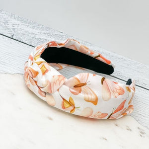 Top Knot Butterfly Printed Headband