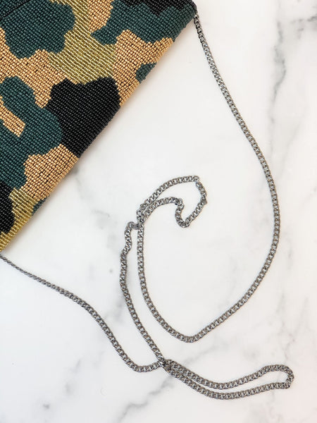 Camouflage Beaded Crossbody/Clutch