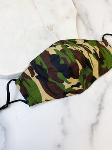 Teen/Petite Adult Printed Face Mask - Camo