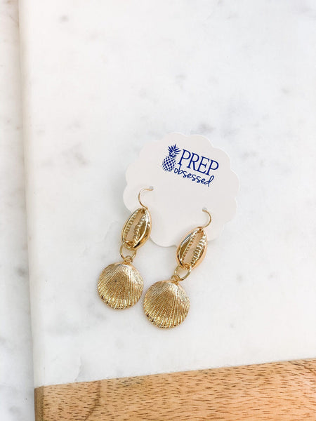 Puka Shell Dangle Earrings