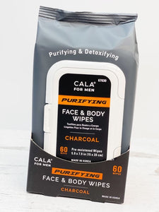Charcoal Purifying Face & Body Wipes for Men