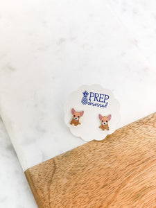 Chihuahua Pet Enamel Stud Earrings