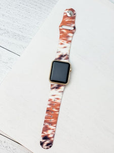 Cow Hide Printed Silicone Watch Band