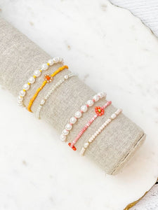 Pearl Beaded Stretch Bracelet Sets