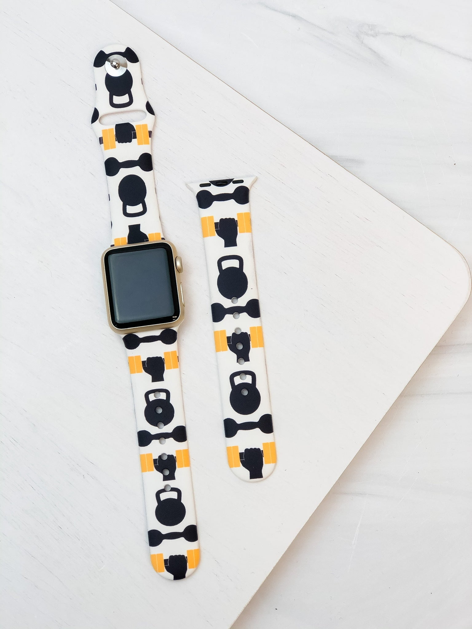 Fitness Printed Silicone Smart Watch Band