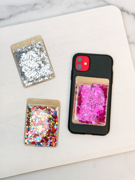 Glitter Phone Card Holders