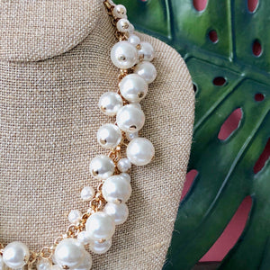 Molly Pearl Bauble Necklace - Silver or Gold